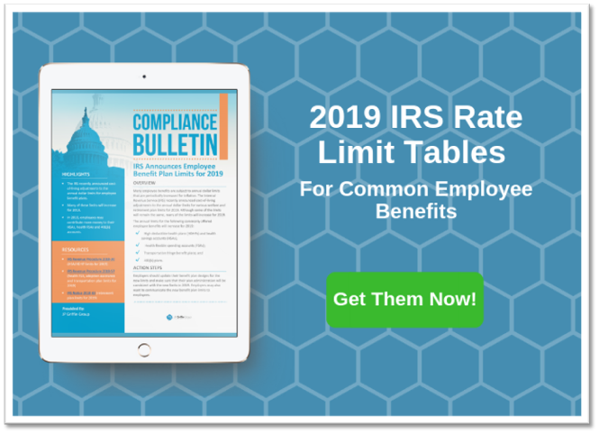2019 IRS Limits for Commonly Offered Employee Benefits