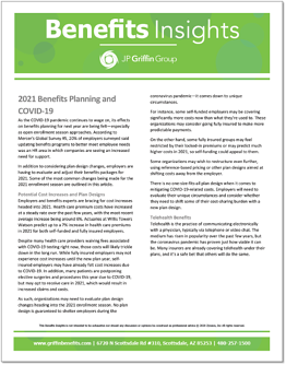 2021 Benefits Planning and COVID-19