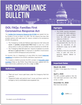 The Latest DOL FAQs Re: FFCRA