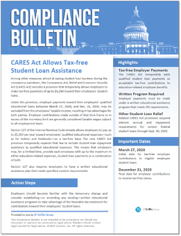 287238 CARES Act Allows Tax-free Student Loan Assistance