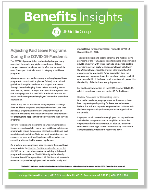 Adjusting Paid Leave Programs During the COVID-19 Pandemic_FINAL