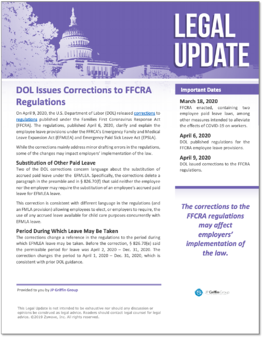 DOL Issues Corrections to FFCRA Regulations