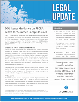 DOL Issues Guidance on FFCRA Leave for Summer Camp Closures F