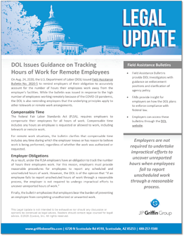 DOL Issues Guidance on Tracking Hours of Work for Remote Employees