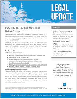 DOL Issues Prevised Optional FMLA Forms