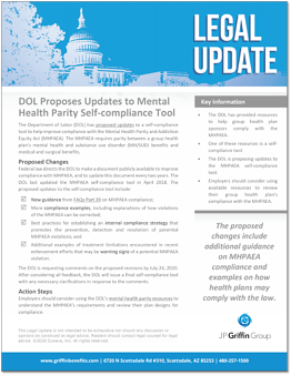 DOL Proposes Updates to Mental Health Parity Self-compliance Tool F