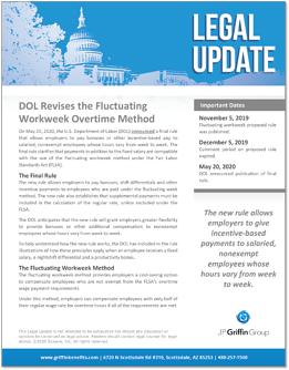 DOL Revises the Fluctuating Workweek Overtime Method