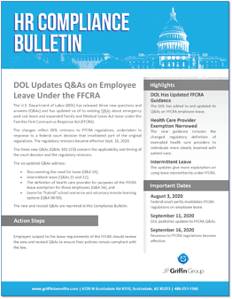 DOL Updates Q&As on FFCRA