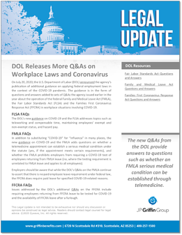 DOl Releases more QA on Workplace Laws and Cornavirus
