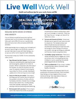 Dealing with COVID-19 Stress and Anxiety