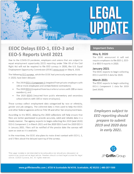 EEOC Delays EEO-1, EEO-3, and EEO-5 Reports