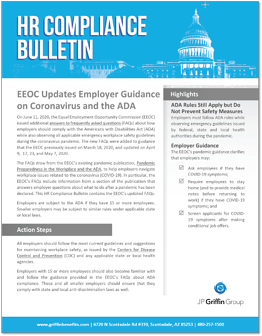 EEOC Updates Employer Guidance on Coronavirus and the ADA-1