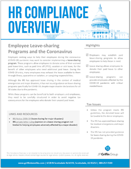 Employee Leave-Sharing Programs and the Coronavirus JPGG