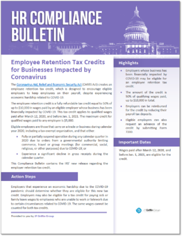 Employee Retention Tax Credits for Businesses Impacted by Coronavirus