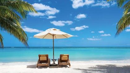 Enjoying paid time off_(PTO)on a beautiful beach