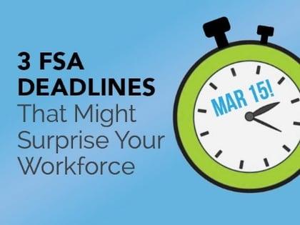 FSA Deadlines for employee benefits