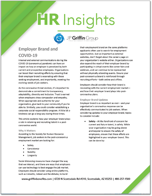 HR Insights - Employer Brand and COVID-19