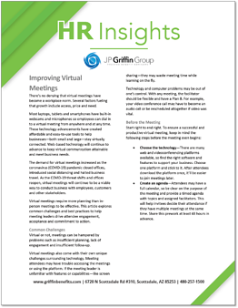 HR Insights - Improving Virtual Meetings