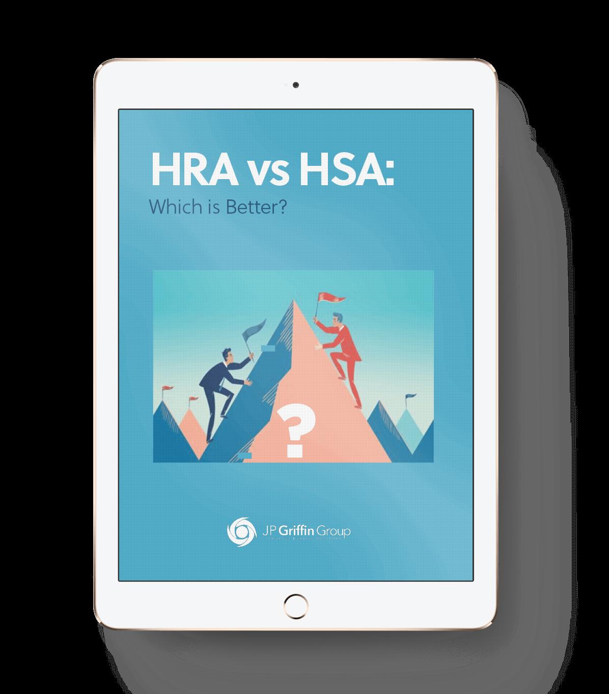 HRA vs HSA mockup ipad