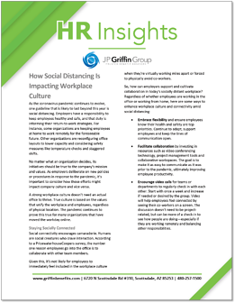 How Social Distancing is Impacting Workplace Culture