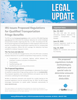 IRS Issues Proposed Regulations for Qualified Transportation Fringe Benefits F