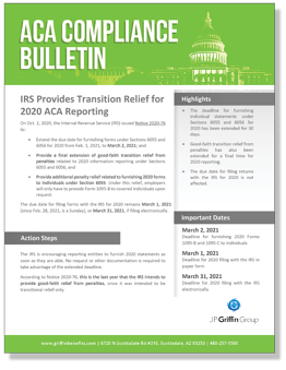 IRS Provides Transition Relief for 2020 ACA Reporting_FINAL