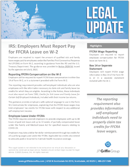 IRS-Employers Must Report Pay for FFCRA Leave on W-2