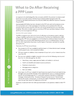 ITK - What to Do After Receiving a PPP Loan JPGG