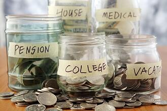 Illustration of saving money