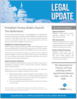 President Trump Orders Payroll Tax Deferment