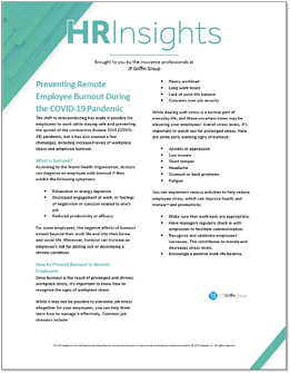 Preventing Remote Employee Burnout During the COVID-19 Pandemic