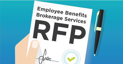 Illustrations of a signed Employee Benefits Brokerage Firm RFP agreement.