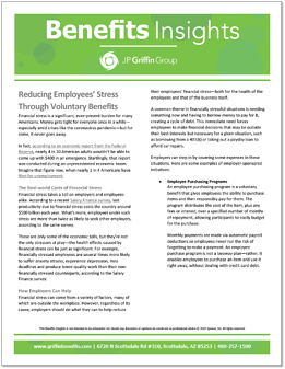 Reducing Employees' Stress Through Voluntary Benefits