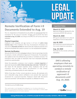 Remote Verification of Form I-9 Documents Extended