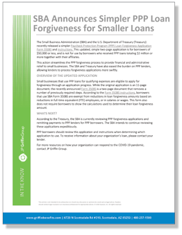 SBA Announces Simpler PPP Forgiveness for Smaller Loans_FINAL