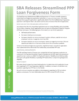 SBA Releases Streamlined PPP Loan Forgiveness Form