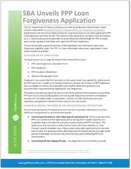 SBA Unveils PPP Forgiveness Application