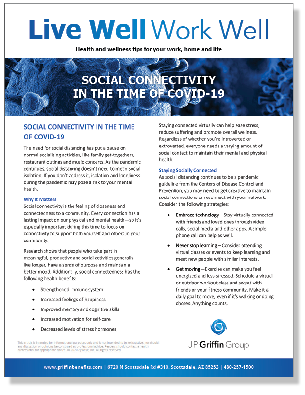 Social Connectivity in the Time of COVID-19_FINAL