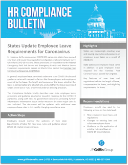States Update Employee Leave Requirements for Coronavirus F