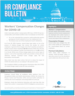 Workers Compensation Changes for COVID-19 F