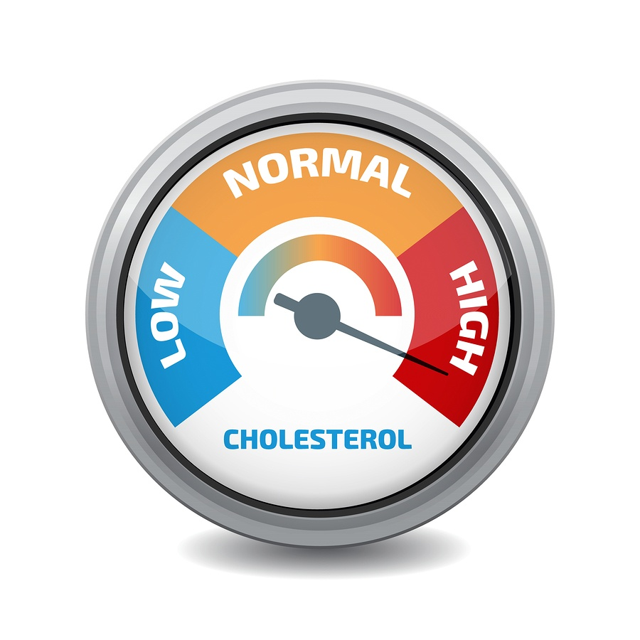 barometer of low normal and high with the needle in the high cholesterol zone