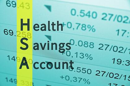 A graphic highlighting the H, S, and A in the words health savings account.