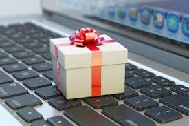 Cyber Monday present on keyboard