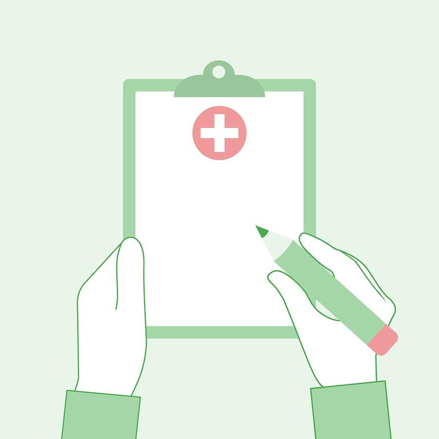A cartoon image of a generic prescription notepad.