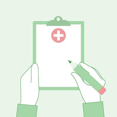 A cartoon image of a generic prescription notepad.