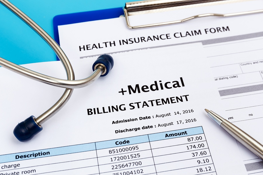 image of a medical billing statement.