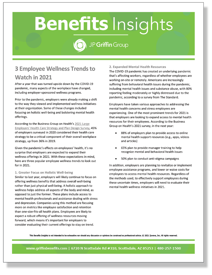 3 Employee Wellness Trends to Watch in 2021