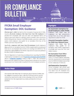 283504 FFCRA Small Employer Exemption - DOL Guidance-1