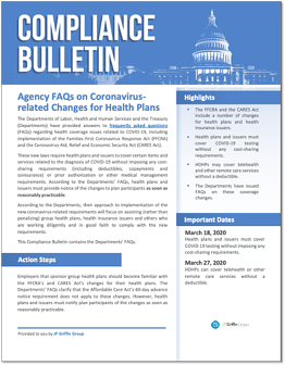 Agency FAQs on Coronavirus Related Changes for Health Plans (1)-1