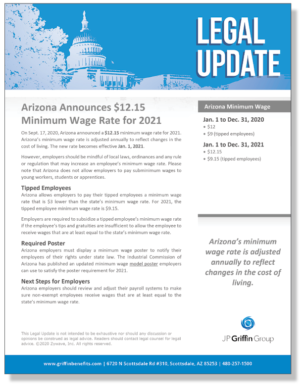 Arizona Announces $12.15 Minimum Wage Rate for 2021_FINAL